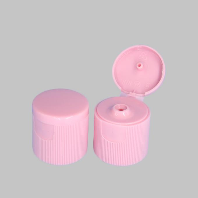 Colorful Flip Top Plastic Caps 3mm And 5mm Orifice 28 / 415 For Cosmetic Bottle