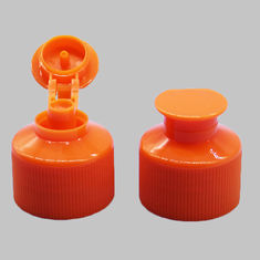 Professional Flip Top Plastic Caps Red Color PP Material 28 / 410 Size