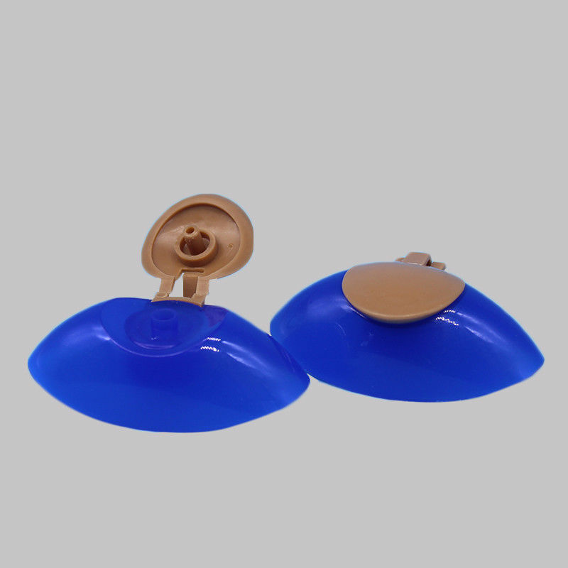 14mm Snap Neck Double Color Plastic Flip Top Lid Caps For Shampoo Bottle supplier